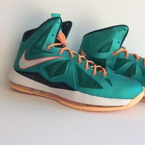 Nike Shoes - Lebron Miami Dolphin Atomic Teal NIKE Men's SZ 14